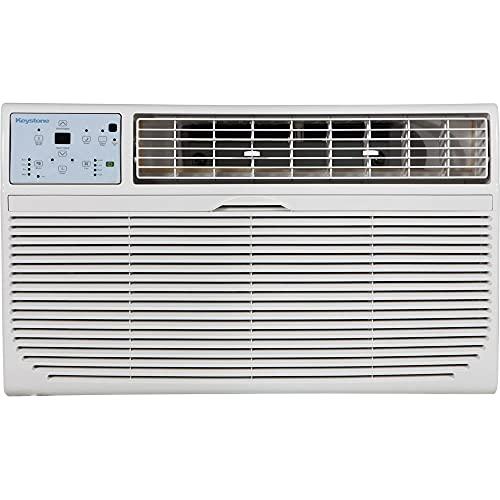 Keystone, KSTAT08-1HC 8,000 115V Through-the-Wall Air Conditioner with 4,200 BTU Supplemental Heat Capability, 14.500, White