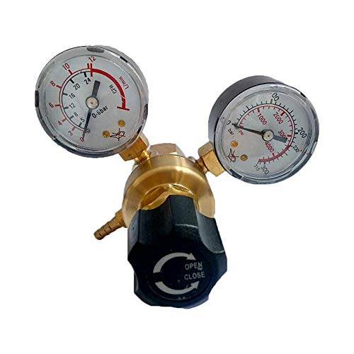 Drukregelaar SENRISE Co2 Argon Regulator 0-315Bar Drukverkleining Mig Tig Lassen voor Gas Fles met W21.8 Outlet