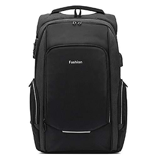 17/15.6 inch Travel Laptop Backpack Anti Theft Laptop Backpack USB Charging Port Water Resistant College School Bag Men Women Black 15.6 inch