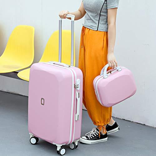 HLXB Leichtgewicht GepäckHartschale Kofferset, Reisekoffer Trolley für Studenten und Teenager-Mädchen mit 14.5cm Beautycase, mehrfarbige Optionen