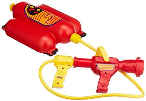 Theo Klein 8932 Fire Fighter Henry Feuerwehrspritze I Mit Wasserspritzfunktion und 2-Liter-Tank I Tragbar wie EIN Rucksack I Maße: 31 cm x 21 cm x 9 cm I Spielzeug für Kinder ab 3 Jahren