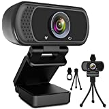 Webcam HD 1080p Web Camera, USB PC Computer Webcam with Microphone, Laptop Desktop Full HD Came…
