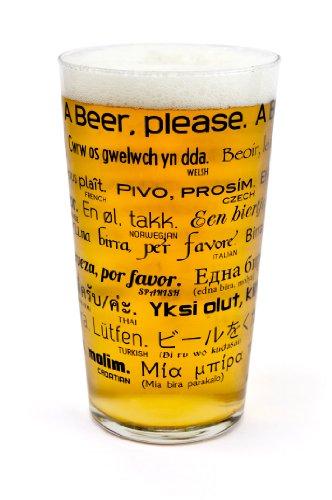 Verre à Pinte de bière Comment Commander Une Bière dans 26 Languages- Transparent