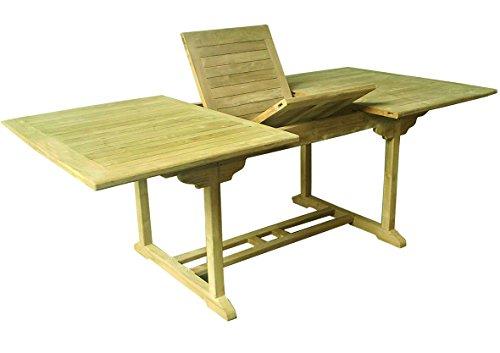 Unbekannt Teak Holz Tisch rechteckig ausziehbar 180/120x95x75cm