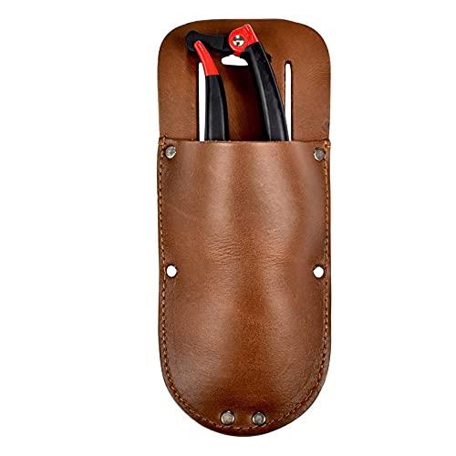 Funda de cuero para herramientas de fundas, soporte para cinturón, bolsa para alicates de poda, tijeras o cuchillo de jardín bolsa de cuero
