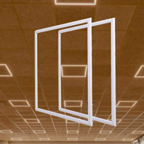 FactorLED Pack x2 FIT Panel Marco LED 60x60cm 40W, Marco Led Luminoso 60x60, 4200Lm, Lámpara Techo, Panel Led Luminoso ¡Nuevo! 3 años de Garantía, [Clase de eficiencia energética A+] (Blanco Cálido)