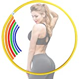 GAX Weight Loss Hula Hoop Multicolored Fitness Hula Hoops Plastic Hoola Hoops for Adults Children Kids Men...