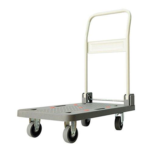 Jia He Transportwagen Beweglicher Einkaufswagen-Falten-Laufkatze-Leichtgewichtler-Wagen-Hauptzug-Wagen-Flachbett-Wagen-Falten-älterer Laufkatze-4 runden Universalrad ##