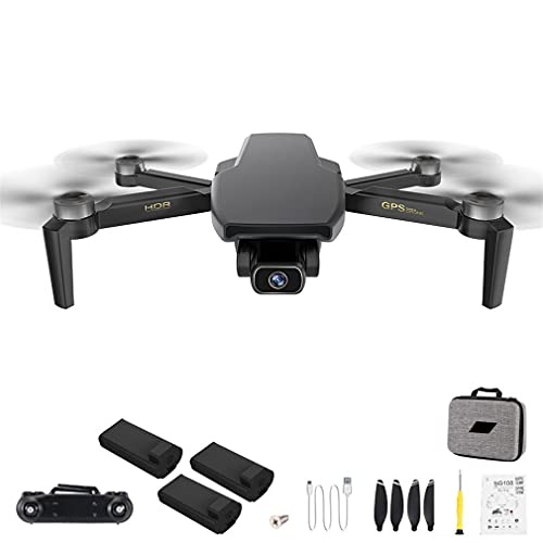 SG108 PRO 4K Drone 2-Axis Gimbal Fotocamera Professionale GPS FPV RC Quadcopter Nero 3 * batterie
