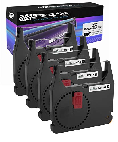 Speedy Inks Compatible Printer Ribbon Cartridge Replacement for IBM 1299845 (Black, 4-Pack)