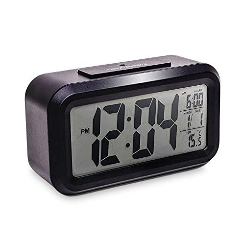 Mebus digital väckarklocka, plast, svart, normal