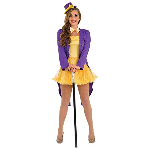 Fun Shack Viola Proprietario Fabbrica di Cioccolato Costume per Donne - Small