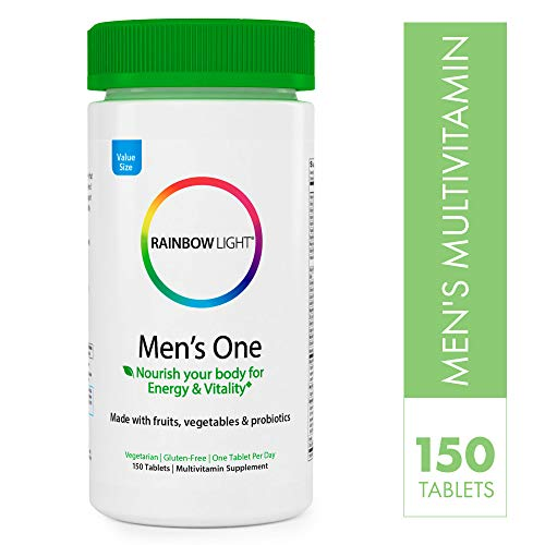 Rainbow Light Men's One Multivitamin, Once-Daily Nutritional Support for Men's Health, 150 Count (Packaging May Vary)