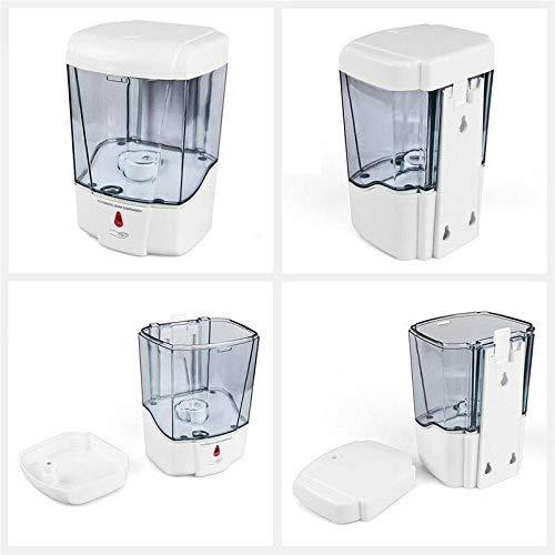 Mdcgok Dispensador de jabón automático para pared, funciona con pilas, bomba de jabón para montaje en pared, con sensor infrarrojo para cocina, baño, oficina, inodoro