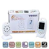 HJJGRASS Babyphone vidéo avec détection de la caméra Moniteur Babyphone Surveillance de la température, Longue portée, Deux Voies Audio sans Fil babyphone, Lullabies, et Vision Nocturne Fonction