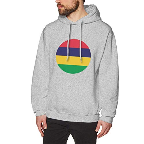 SDFGSE Men's Mauritius Hoodies Sweatshirt Pullover Sweater, Drawstring Hooded Bodysuits Tops S