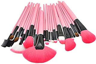 Make Up For You 24 pieces Professional Makeup Brush Set Cosmetic Brushes Kit Set with Folding PU Leather Bag - Pink