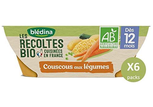 Blédina Les Récoltes Bio12 bols Couscous de Légumes (Pack de 6x2 bols)
