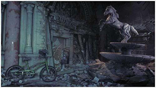 Puzzle 1500 Piezas,Puzzles para Adultos,Puzzle De Madera,Puzzle De Diversión Familiar - Escultura De Caballo En Ruinas
