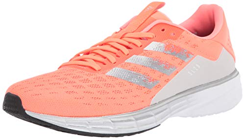 adidas Women's SL20 Running Shoe, Signal Coral/Silver Metallic/Core Black, 11