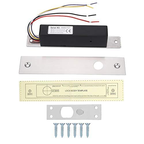 MAGT Cerradura magnética eléctrica, Retardo de Acceso Tira de Metal Retroalimentación de señal Cerradura magnética de una Sola Puerta para Puerta de Vidrio/Puerta de Madera