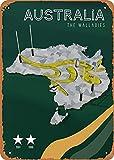 Coupe du monde de rugby Australie Rugby Wall Art 12 'x 8' métal étain rétro Vintage signe