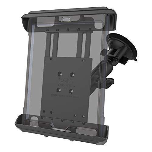 RAM MOUNTS (RAM-B-166-TAB8U Twist Lock Suction Cup Mount with Tab-Tite Universal Clamping Cradle for Large Tablets with Heavy Duty Cases