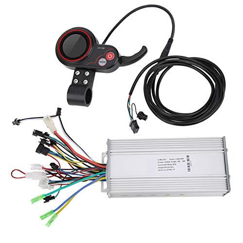zhuolong Controlador de Scooter eléctrico, LH100 48V Scooter eléctrico Controlador de Bicicleta de montaña eléctrica Cambio de Pulgar LCD 2 en 1(1000W)