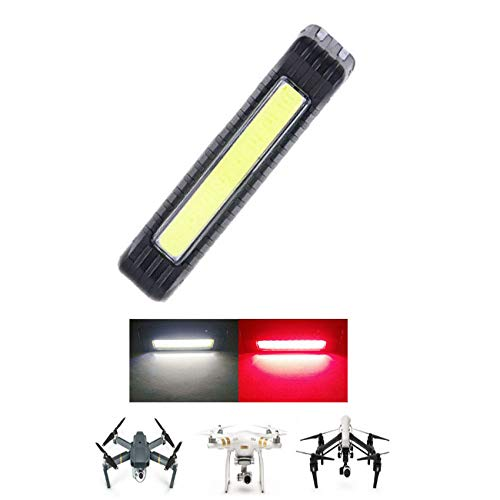 Toogod Drone Strobe Light,Red&White Color 5 Modes,UAV Locator LED Light,Drone Light for Drone DJI Mavic PRO/Phantom 3/Inspire 1/Inspire 2 or Other UAV,Included Battery&USB Charging Cable