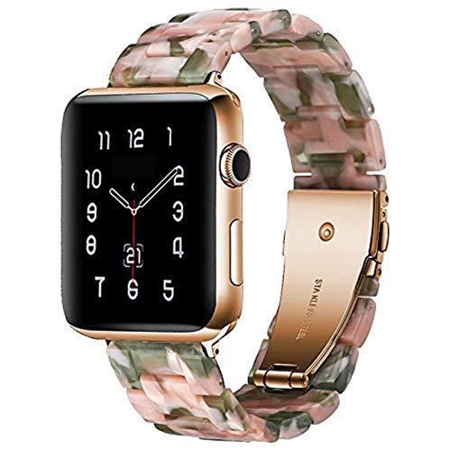 Para Apple watch band 44mm 40mm iwatch band 38mm 42mm Resina acero inoxidable hebilla anti-cerámica pulsera apple watch 6 SE 5 4 3