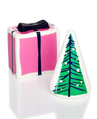 kate spade New York Village Salt & Pepper Set Lenox Gift and Tree 3.25'