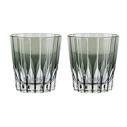 Copa Astral Tallado A Mano Copa De Vino Vaso De Whisky Vaso De Alcohol Taza De Agua Fría 280 Ml (Color : Transparent, Size : 280mL*2)