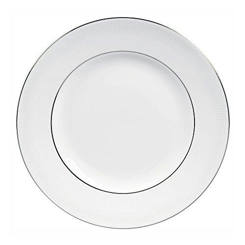 Vera Wang China Blanc Sur Blanc, Porcelaine fine, Blanc, 10.75\