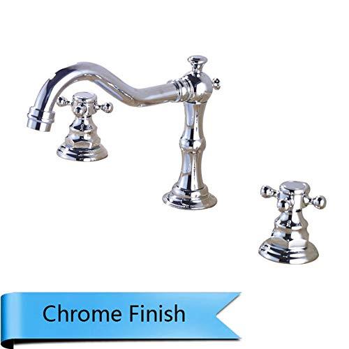 Tous les anciens en cuivre /à trois trous robinet robinet bassin poign/ée double robinet eau chaude et froide robinet /évier de salle de bains dun robinet de salle de bain