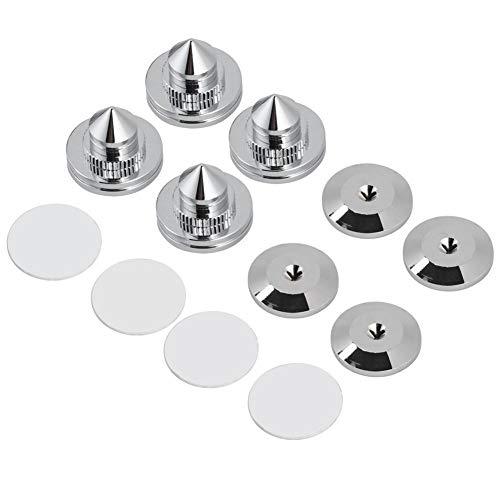 Tihebeyan set van 4 koperen luidsprekerpunten met luidsprekervoet, versterker, CD-dvd-speler