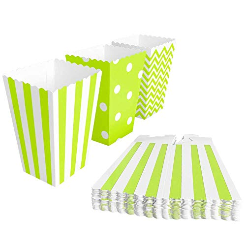 BangShou - 60Pezzi Scatole Popcorn Sacchetti di Popcorn Contenitori per Caramelle, Popcorn, Biscotti e Dolce (Verde)