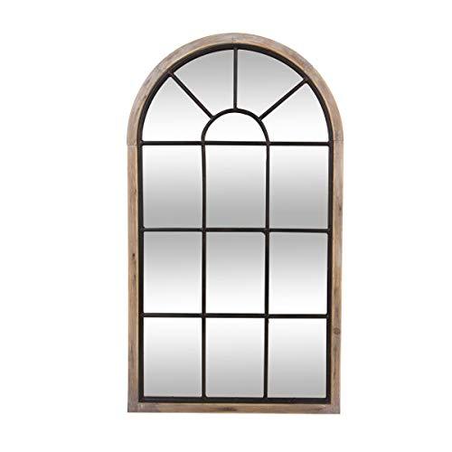 ATMOSPHERA Große Spiegel Wandspiegel Fensterspiegel Dekospiegel Flurspiegel, Holzrahmen, 106,5 x 60 cm