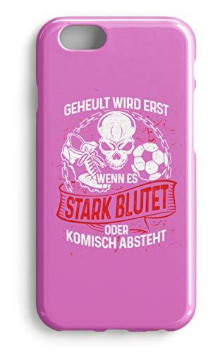 shirt-o-magic Handyhülle Fußballer: Beim Fussball wird nicht geheult - Case -iPhone 7-Pink