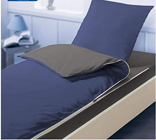 Bleu Calin Kit de Couchage caradou pour lit 1 Place (Indigo/Graphite)