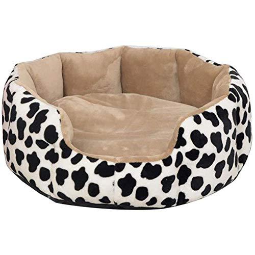 Slaapbank voor katten, slaapzak voor huisdieren/hondenbed Nest Dog/Plus Velours/Dick/Winter/Warm/Vier seizoenen Universal/Accessoires voor huisdieren, M, Wit