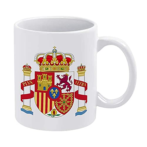 Eastlif Escudo de Armas de España Taza de la Taza de café Puede acomodar