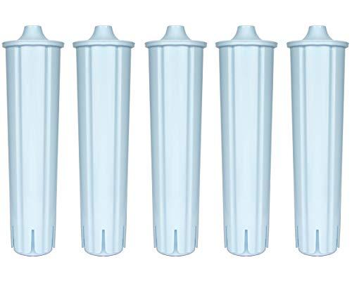 Cartuchos de filtro de agua compatibles con filtro Jura Clars Blue para cafeteras automáticas Jura Café Impressa Ena Giga, eficaz con pastillas de limpieza para cafeteras automáticas (5)