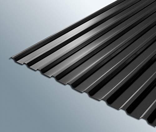 Trapezblech Stahlprofilplatten Trapez 115/18 0,5mm stark aus verzinktem Stahlblech Anthrazit RAL 7016 1080mm x 5000mm