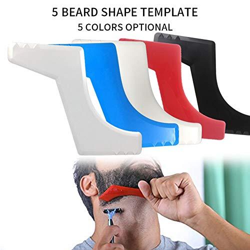 Souarts Rasierschablone Schablone Bartpflege Bartschablone Bartvorlage Schnurrbart Trimmer Shaper Werkzeug für Herren Haar 150x125mm Zufällige Farbe