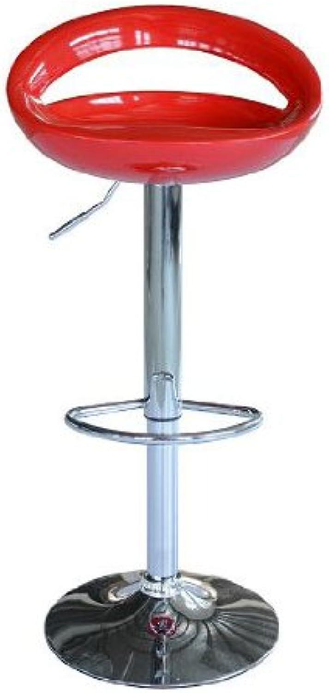 Modern Pub Barstool (Set of 2) color  Red
