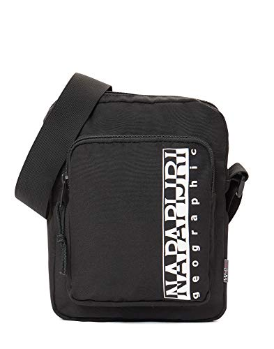 Napapijri HAPPY CROSS POCKET Borsa Messenger, 22 cm, Nero (Black)