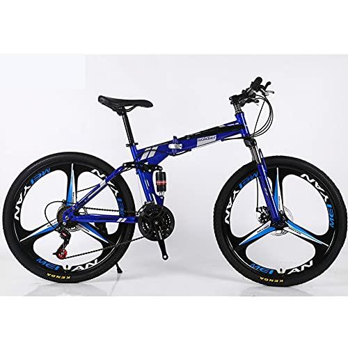 GWL Bicicleta Plegable para Adultos, Bicicleta para Joven, Mujer Mountain Bike, Bicicleta de montaña prémium para niños, niñas, Hombres y Mujeres/B / 26inch