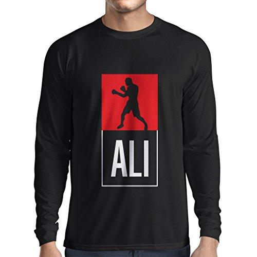 Langarm Herren t Shirts Boxing - in Fight Style Für Training, Sport, Übung, Laufen, Fitness Kleidung (X-Large Schwarz Mehrfarben)