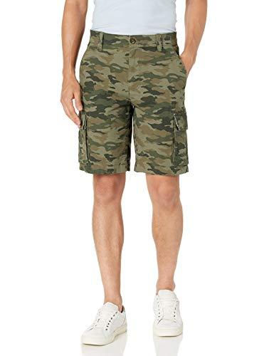 Amazon Essentials Lightweight Ripstop Stretch Cargo Short Shorts, Camuflaje Verde, 33