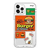 elago l LINE Friends Burger Time Hybrid Case Compatible with iPhone 12, Compatible with iPhone 12 Pro 6.1 Inch, Full Body Protection (Screen & Camera Protection) [Official Merchandise] (Brown)